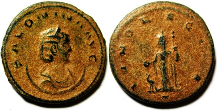Ancient Coins - BEAUTIFULL SALONINA ANTONINIANUS, NICE NATURAL PATINA