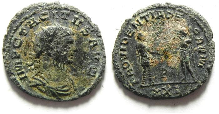 Ancient Coins - TACITUS  ANTONINIANUS AS FOUND