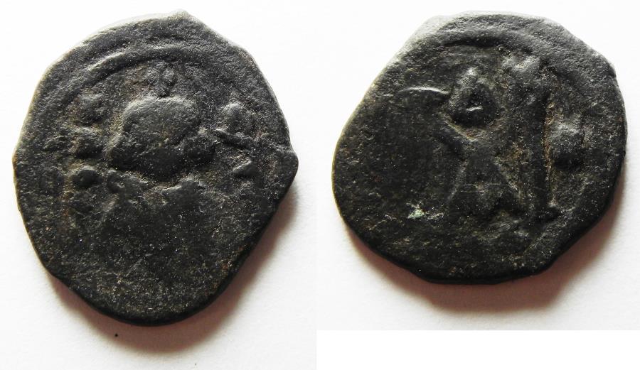 World Coins - ISLAMIC. Umayyad Caliphate. Time of Mu'awiya (AD 661-680). AE fals  (21mm, 4.88g)