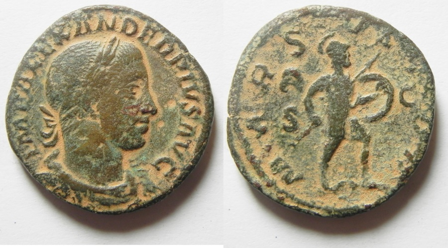 Ancient Coins - SEVERUS ALEXANDER AE SESTERTIUS, NICE QUALITY