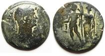 Ancient Coins - Roman Provincial. Egypt. Alexandria under Trajan (AD 98-117). AE drachm (34mm, 15.85g). Struck in regnal year 18 (AD 114/15).