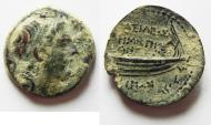 Ancient Coins - SELEUKID KINGS of SYRIA. Demetrios II Nikator. First reign, 146-138 BC. NICE AS FOUND !!!