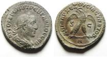 Ancient Coins - Trebonianus Gallus 251-253 AD. Syria Antioch. Tetradrachm