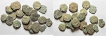 LOT OF 20 AE JUDAEAN COINS. AS FOUND