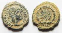 Ancient Coins - AS FOUND. ORIGINAL DESERT PATINA. CONSTANTIUS II AE 4 . ALEXANDRIA MINT