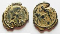 Ancient Coins - BEAUTIFUL AS FOUND CONSTANTIUS GALLUS AE 3
