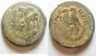 Ancient Coins - GREEK. Ptolemaic kingdom. Ptolemy V Epiphanes (204-180 BC). AE 33mm, 32.65g). Alexandreia mint. Series 6.