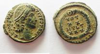 Ancient Coins - CONSTANTIUS II AE 4 . NICE QUALITY AS FOUND