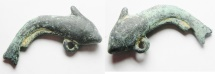 Ancient Coins - ROMAN. BRONZE FISH PENDANT. 200 - 300 A.D