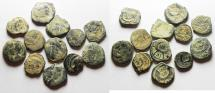 Ancient Coins - LOT OF 12 NABATAEAN BRONZE COINS. AS FOUND. NICE QUALITY
