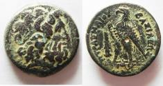 Ancient Coins - BEAUTIFUL PTOLEMY III AE 24