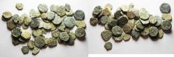 Ancient Coins - LOT OF 57 JUDAEAN BRONZE WIDOW'S MITES. AS FOUND
