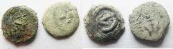 Ancient Coins - Judaea, Alexander Jannaeus, 103-76 BC, LOT OF 2 AE Prutot. WIDOW'S MITES