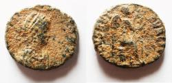 Ancient Coins - Eudoxia. Augusta. Wife Of Arcadius.  AD 400-404. AE 4
