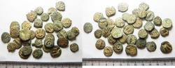 Ancient Coins - JUDAEAN LOT OF 34 BRONZE PRUTOT. NICE QUALITY