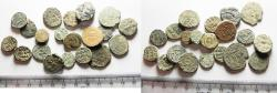 World Coins - ISLAMIC. UMMAYYED. LOT OF 20 AE FALS COINS. AS FOUND. GREAT STUDY GROUP!