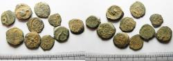Ancient Coins - LOT OF 10 ANCIENT JUDAEAN AE PRUTOT