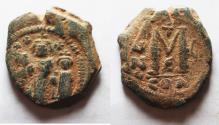Ancient Coins - Heraclius, with Martina and Heraclius Constantine, Follis, 627-628 A.D.