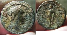 Ancient Coins - EGYPT , ALEXANDRIA , DOMITIAN AE OBOL , EXCEPTIONAL QUALITY AS FOUND