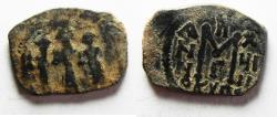 Ancient Coins - Byzantine Empire, Heraclius 610-641, Follis. CYPRUS MINT. NICE QUALITY