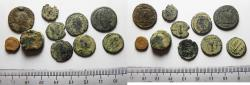 Ancient Coins - ROMAN IMPERIAL. LOT OF 10 BRONZE COINS. AS FOUND