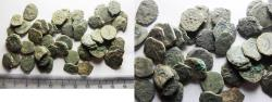 Ancient Coins - AS FOUND: LOT OF 50 ANCIENT JUDAEAN WIDOW'S MITE COINS