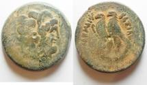 Ancient Coins - GREEK. Ptolemaic kingdom. Ptolemy V Epiphanes (204-180 BC). AE 33mm, 32.65g). Alexandreia mint. Series 6.
