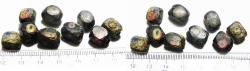 Ancient Coins - ANCIENT ROMAN. BEAUTIFUL TEN INLAID MOSAIC GLASS BEADS. 200 - 300 A.D