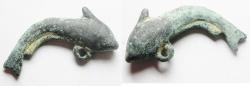 Ancient Coins - ROMAN. BRONZE FISH PENDANT. 200 - 300 A.D