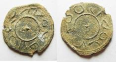 Ancient Coins - BYZANTINE. Fifth century AD. Lead amulet (22mm, 2.03g).
