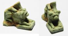 Ancient Coins - ANCIENT EGYPT , FAIENCE WINGED LION AMULET , 600 - 300 B.C