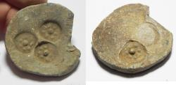 Ancient Coins - ANCIENT HOLY LAND, GREEK OR ROMAN LEAD WEIGHT.  300 B.C - 200 A.D