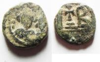 Ancient Coins - Heraclius, with Heraclius Constantine, 12 Nummi, 613-618, Alexandria