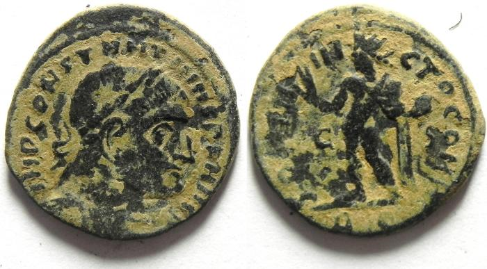 Ancient Coins - CONSTANTINE I AE FOLLIS , AS FOUND