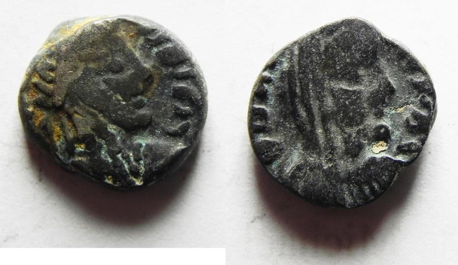 Ancient Coins - Nabatean Kingdom. Rabbel II (AD 70-106). AR drachm (12mm, 3.33g). Struck c. AD 80/1-91/2.