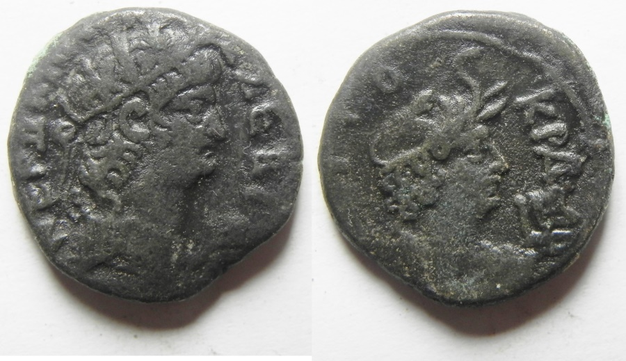 Ancient Coins - Egypt, Alexandria. Nero. Billon tetradrachm with Alexandria