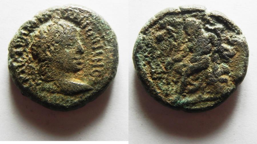 Ancient Coins - ROMAN PROVINCIAL. Egypt. Alexandria under Elagabalus (AD 218-222). BI tetradrachm (23mm, 11.66g).