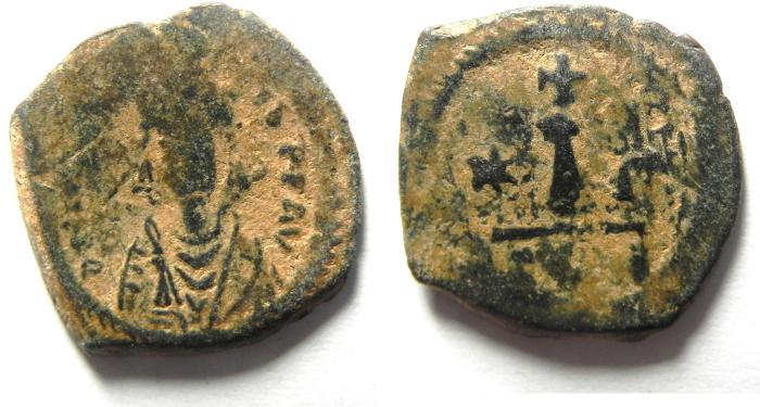 Ancient Coins - BYZANTINE , MAURICE TIBERIUS AE DECANUMMIUM