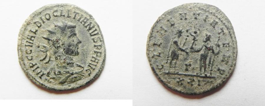 Ancient Coins - DIOCLETIAN AE ANTONINIANUS AS FOUND