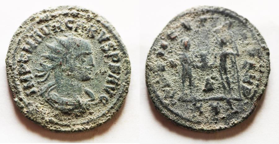 Ancient Coins - ORIGINAL DESERT PATINA: CARUS AE ANTONINIANUS