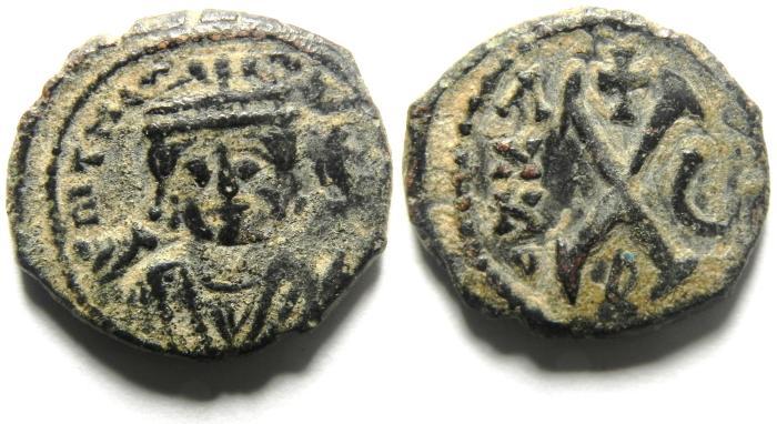 Ancient Coins - BEAUTIFULL MAURICE TIBERIUS AE DECANUMMIUM