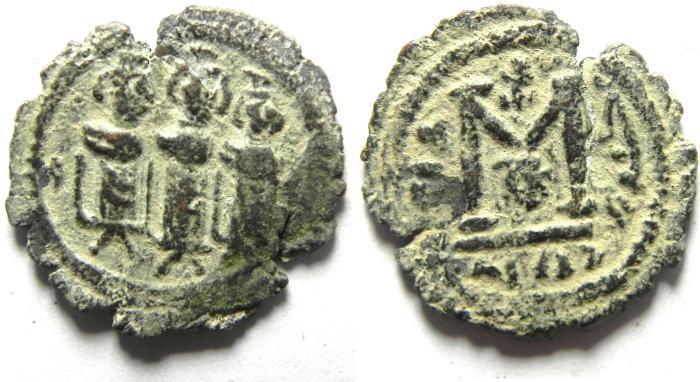 World Coins - ARAB BYZANTINE AE FALS , TIBERIAS MINT