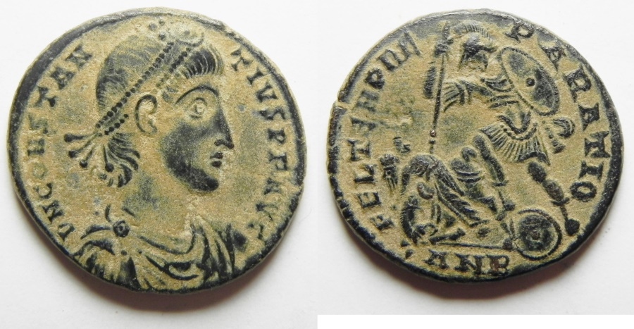 Ancient Coins - ROMAN EMPIRE. Constantius II. 337-361 AD. Ae Cent. Antioch Mint.  Beautiful Desert Patina, Nice Quality
