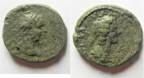 Ancient Coins -  Judaea. Aelia Capitolina under Lucius Verus and Faustina Junior (AD 161-169). AE 22mm, 6.51g.