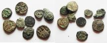 Ancient Coins - South Arabia. Himyarite kingdom. LOT OF 9 AE COINS. AS FOUND