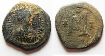 Ancient Coins - justin i ae follis. byzantine. Constantinople