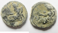 Ancient Coins - Exceptional : Egypt. Alexandria. Lead tessera (17mm, 3.84g). Struck in regnal year 6 of uncertain emperor.