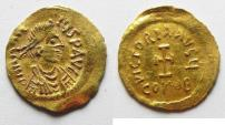 Ancient Coins - BYZANTINE. Heraclius (AD 610- 641) AV tremissis (17mm, 1.45g). Constantinople mint. Struck AD  610-613.