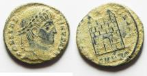 Ancient Coins - AS FOUND. ORIGINAL DESERT PATINA: CONSTANTINE I AE 3