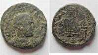 Ancient Coins - Neapolis, Samaria: Trebonianus Gallus, 251 - 253 AD. AE 24